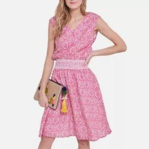 NWT $138 Roller Rabbit Dress Pink Cotton  8